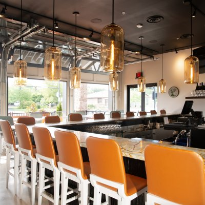Catch-a-Fire Pizza Interior Bar Seating