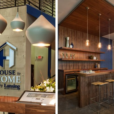 Lansing Building Products, Interior Graphics, Lighting, Bar Area, Cincinnati OH-by Amy Youngblood Interiors