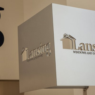 Lansing Building Products, Interior Graphics, Signage, Cincinnati OH-by Amy Youngblood Interiors