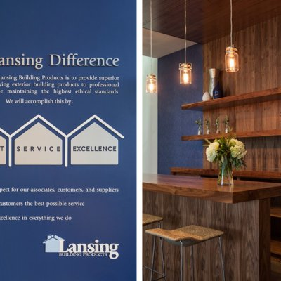 Lansing Building Products, Interior Graphics, Bar Area, Cincinnati OH-by Amy Youngblood Interiors