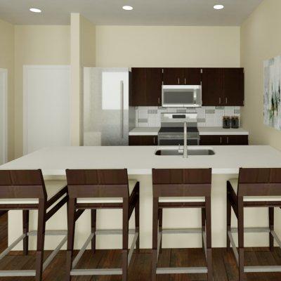 Paramount Square Apartment Kitchen