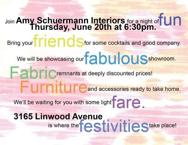Join Us for a Home Furnishings and Fabric Party