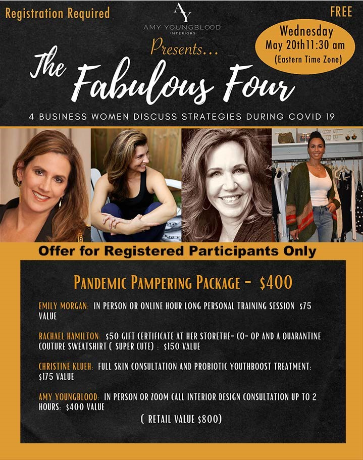 Fabulous Four Zoom Panel Discussion and Women's Pampering Package