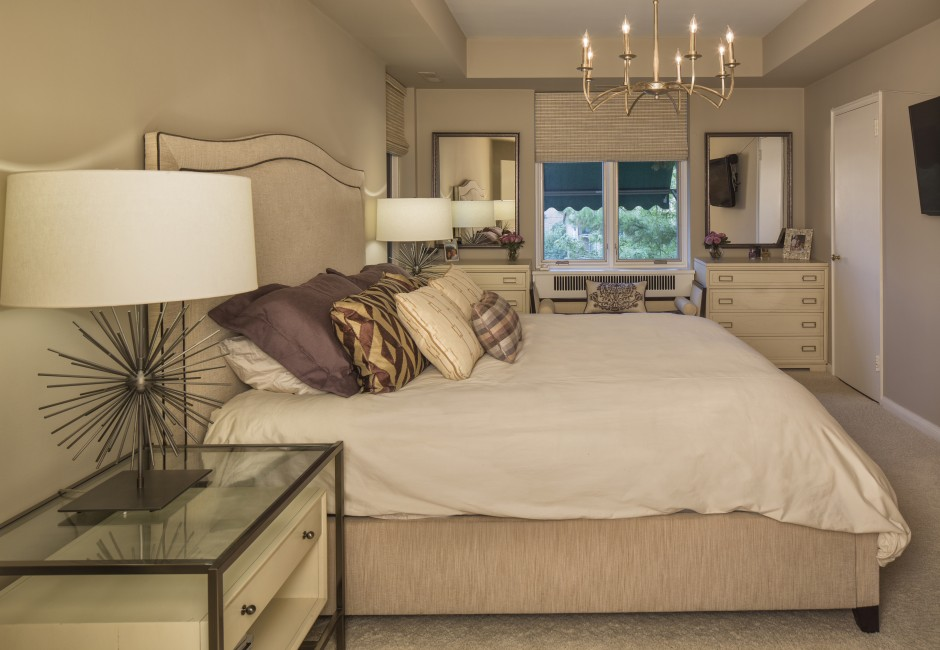 side view of a bed with pillows