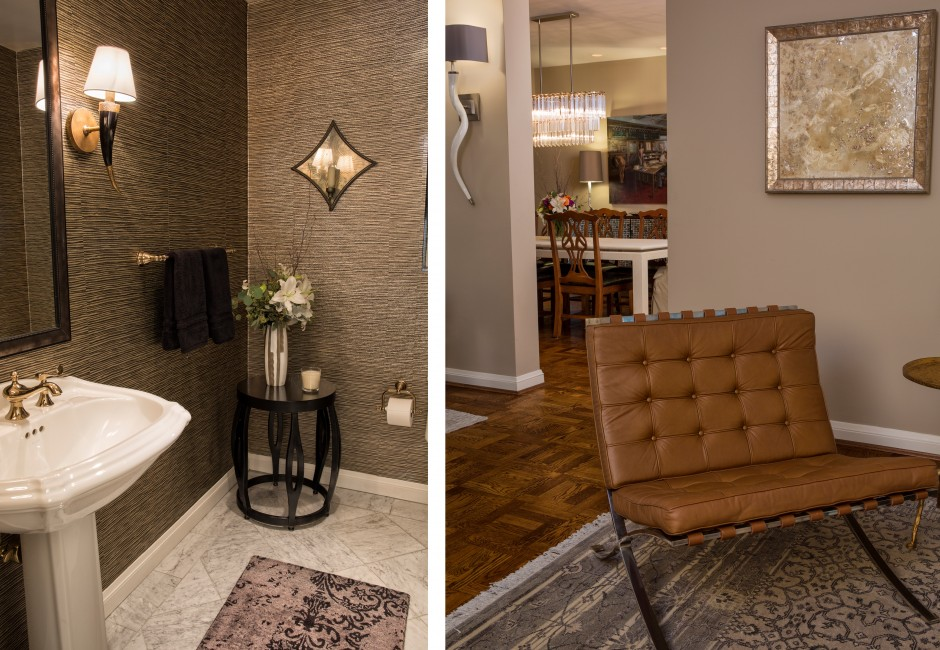 collage of decorative details in a condo